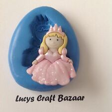 Silicone Mould Fairytale Princess 4 Party Cupcake Topper Flowerpaste Sugarpaste