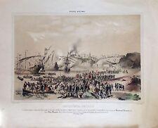 Militar.Conquista de Oran.Litografia original.1850