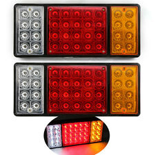 Truck Tailer SUV Motorcycle Red Yellow LED Rear Tail Light Reflector Brake Light