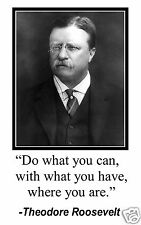 """Theodore Roosevelt """" do what you can"""" Quote 11 x 17 Poster Photo #mw2"""