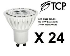 24 x Low Energy LED GU10 Bulbs Lamps Spotlights 4W (50W Equiv.) Warm White - TCP