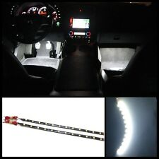 "4x 12"" Super white 12 SMD LED interior strip footwell ambient light exterior #B1"
