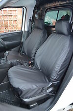 Fiat Doblo Van 2010+ Tailored & Waterproof Front Pair Black Seat Covers UK Made