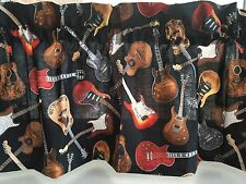 "NEW Electric Guitars Music Valance Curtain 43""W x 14""L"