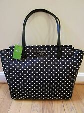 Kate Spade Taden Blake Black Polka Diamond Dots Handbag Bag Travel Tote NWT