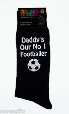 Daddy's Our No 1 Footballer Mens Black Socks Fathers Day or Birthday Gift Father