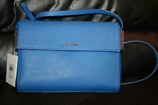 NWT Calvin Klein Scarlett Single Compartment Date Bag Blue Wave  Retail $ 139.50