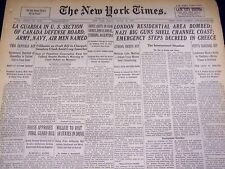 1940 AUGUST 23 NEW YORK TIMES - LONDON AREA BOMBED - NT 2881