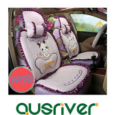 Universal Car Seat Lace Cover Set Dog Purple For Aurion Camry Corolla Echo Kluge