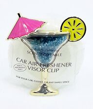 Bath & Body Works Scentportable Holder COCKTAIL DRINK Blue Unit Car Visor Clip