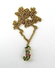 """JAY STRONGWATER CHARMING INITIAL """"J"""" GOLD PLATED CHARM 32"""" NECKLACE NEW NO BOX"""