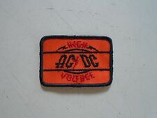 AC/DC /  High Voltage / Sew-on patch ( Black border) Rare... exc. new cond.