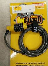 OnGuard Terrier Combo 4 5061 Combination Cable Lock 4'X 6MM Resettable for Kids