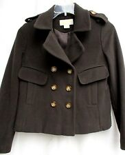 MICHAEL KORS..DARK BROWN..LAMBSWOOL..PEACOAT..JACKET..NWOT..sz 4