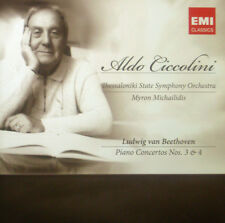 CD BEETHOVEN - piano concertos nos. 3 & 4, Ciccolini, neu