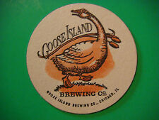 Older Beer Coaster Bar Mat ~**~ GOOSE ISLAND Brewing Company ~ Chicago, ILLINOIS