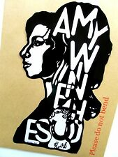 "AMY WINEHOUSE Original Pop Art Music Celebritie 6""X11"" inches decal Sticker"