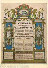 Postcard: Science Museum - Mr Beard, Daguerreotypist, Trade Card (1970s)
