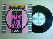 "Michael Jackson With The Jackson 5  /I Want You Back – Disco 45 Giri 7"" UK 1988"