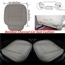 1X Gray Car Full Surround Seat Cover Cushion Breathable Bamboo Charcoal Seat Pad