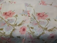 PERCALE DOUBLE FLAT SHEET & PILLOWCASES / FLORAL / NICE / GREAT FOR MATERIAL TOO