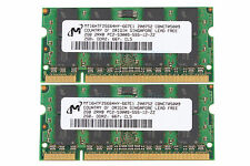 Micron NEW 4GB 2X 2GB 2Rx8 PC2-5300S DDR2 667Mhz 200pin SODIMM RAM Laptop Memory