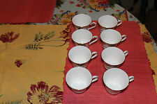 Superb Royal Doulton Valley Green Coffee Cups-Set Of 8-H5015-Green Leaf-Used