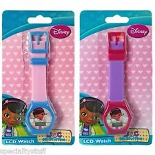 2 NEW DISNEY DOC McSTUFFINS DIGITAL LCD WATCH CHILDRENS TIME PIECE CLUBHOUSE (ME
