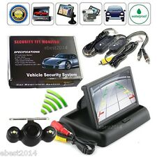 "4.3"" Foldable Car Rear View Monitor+Receiver+Wireless Back Up Camera+Transmitter"