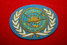 UNITED NATIONS UN BULLION WIRE BREAST BADGE CANADIAN ? MILITARY ENGINEERS