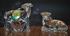 WATERFORD CRYSTAL, ORIGINAL NATIVITY LAMBS/SHEEP, SET OF 2,MINT CONDITION NO BOX