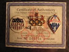USA Olympic Home team Centennial pin set 1996, 1896
