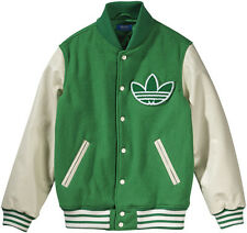 New Mens Adidas Originals Nigo Wool Leather Varsity College Jacket M Rare M69184