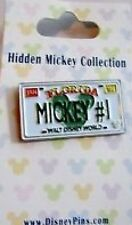 Disney Pin: Hidden Mickey Collection - License Plate ( Mickey # 1)