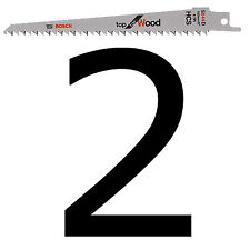 2 Bosch Reciprocating Sabre Saw Blades S644D 150mm WOOD Pruning HCS Extra Sharp