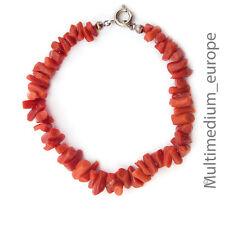 Sardegna Ast Korallen Armband Armkette 50er Jahre coral bracelet 50s rot