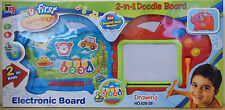 My First Board Fun ~ Electronic 2 In 1 Portable Doodle Drawing Board Red/Blue