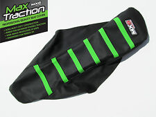 KAWASAKI KX85 KX100 2014 2015 2016 RIBBED SEAT COVER BLACK WITH GREEN STRIPES