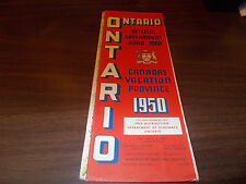 1950 Ontario Province-issued Vintage Road Map