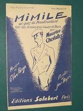 """Partition Chant """"Mimile """" VAN PARYS BOYER"""