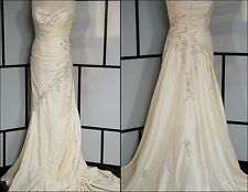 Gorgeous La Sposa Milenium Off White Bead Sequin Wedding Gown Dress Easy Travel