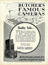 W. Butcher & Sons London Camera House Famous Kameras Klappkamera Annonce 1920