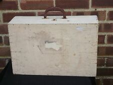 Vintage Wooden Suitcase Briefcase Tool Chest Artists Case Wood With Handle