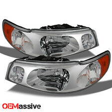 1998-2002 Lincoln Town Car  Replacement Headlights Left + Right Clear Head Lamps