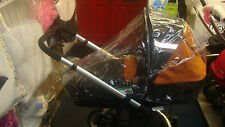 PVC RAINCOVER FITS HAUCK MANHATTAN PRAM & PUSHCHAIR 2 IN 1 / FAST DELIVERY