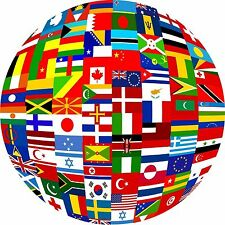 Flags of the World Embroidery Designs on CD in PES for brother & other machines