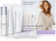 CINDY CRAWFORD MEANINGFUL BEAUTY ON THE GO TRAVEL KIT 4 PCS NIB