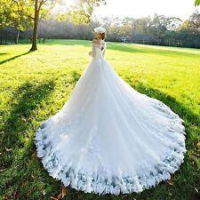 Neue Weiß Brautkleid Abendkleid Ballkleid Hochzeitskleid Gr:34 36 38 40 42 44 46