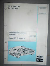 Ford ESCORT : documentation atelier Escort RS Cosworth - 1992 CG7458