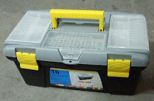 "21"" Plastic tool box with tray inside"